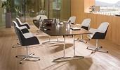 Konferenztisch Skill mit Kabelmanagement, Tischanlage wandelbar