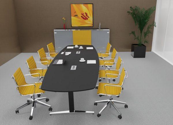 at-table Konferenztisch, elektrisch-höhenverstellbar