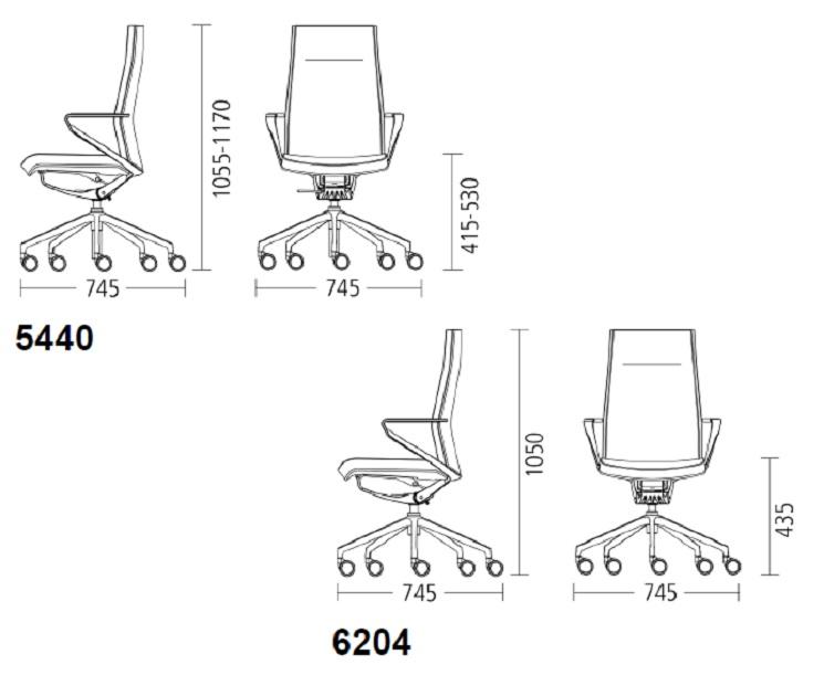 delv Übersicht Abmessungen 5440 und 6204