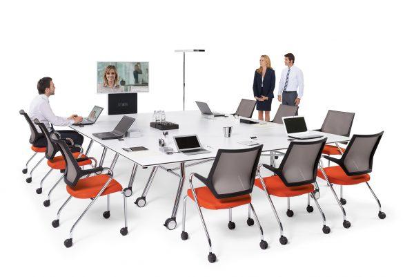Konferenztisch fold, faltbar, klappbar, rollbar und verkettbar