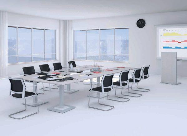 Videokonferenztisch KLA, auch als Einzeltische verwendbar