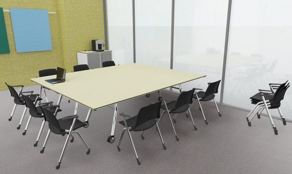 Konferenz-Falttisch für zwölf Personen