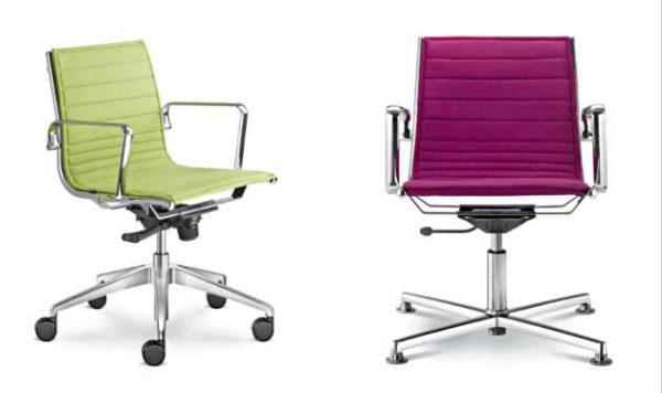 Konferenzstühle Fly auf Rollen und Gleiter