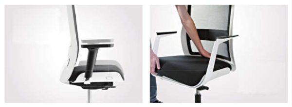 Konferenzstuehle mit Sitzpolster austauschbar