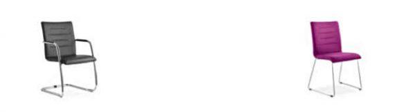 Konferenzstuhl Freischwinger mit Kufengestell schw ro