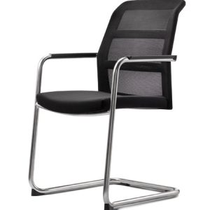 Konferenzstühle paro-2 Freischwinger mit Netzrücken oder Polsterrücken