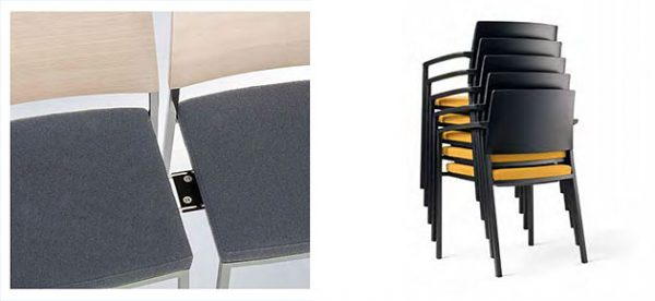 Konferenzstuhl sign-2, Reihenverbindung und stapelbar