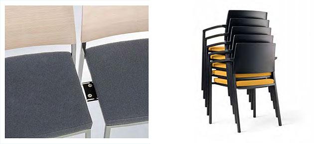 Konferenzstuhl stapelbar  Konferenzstuhl sign-2 mit Rechteckrohrgestell | Konferenzmoebel.info