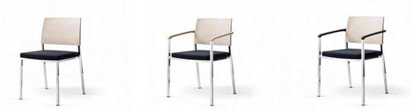 Konferenzstuhl sign-2 als Vierfuß Komfortpolster Rückenlehne Holz oder Kunststoff
