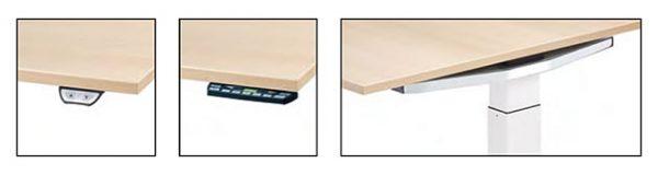 Konferenztisch at-table elektrisch höhenverstellbar, Bedienelemente