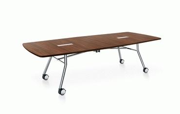 Konferenztisch fold faltbar klappbar rollbar leicht aufzustellen