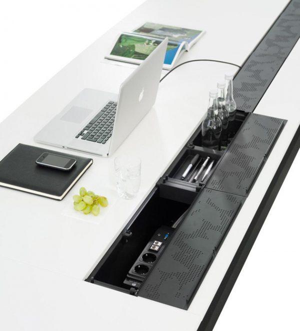 Konferenztisch pulse, Kabelkanal integriert