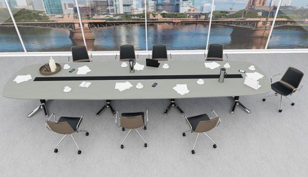 Konferenztisch pulse mit Konferenzdreher nooi