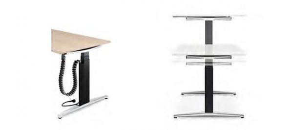 Konferenztisch steh sitz höhenverstellbar mit Memory-Funktion