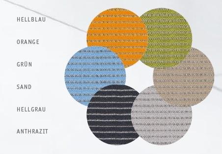 Konferenzstuehle Sejoy Farben fuer Netzruecken