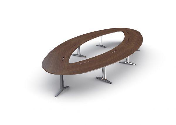 Konferenztisch skill Tischplatte oval