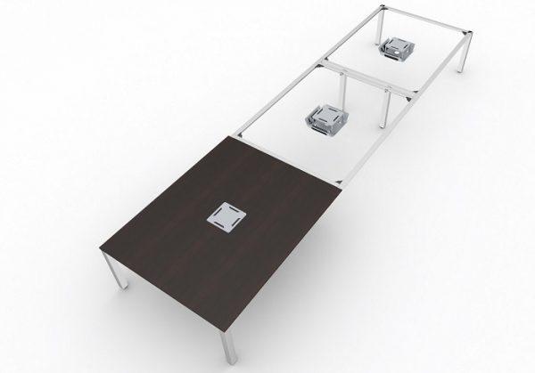 t-prime Konferenztisch mit super stabiler, verstärkten Traversenverbindung