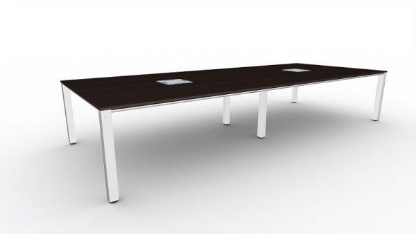 t-prime Konferenztisch, Tischbeine eingerückt für mehr Beinfreiheit