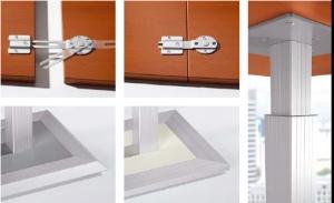 tischplattenverketter hoehenverstellung fuss aluprofil stahlplatte