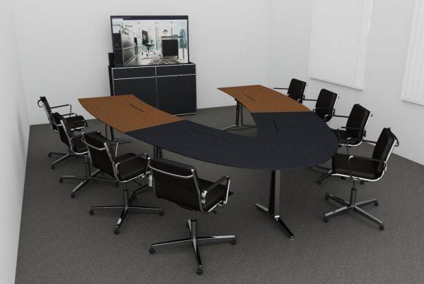 Videokonferenztisch für 8 Personen, das skill-system ist wandelbar