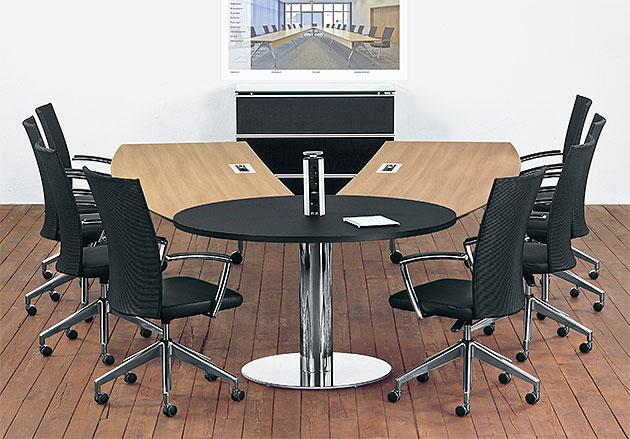 Videokonferenztisch VCT verstellbar schwenkbar, Konferenzmöbel