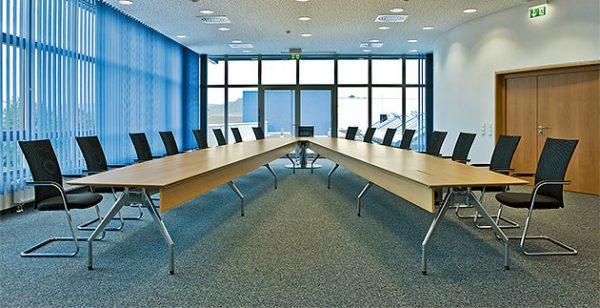 Videokonferenztisch VCT, Tischanlage mehrteilig