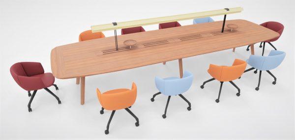 Konferenztisch wing die vielseitige bench
