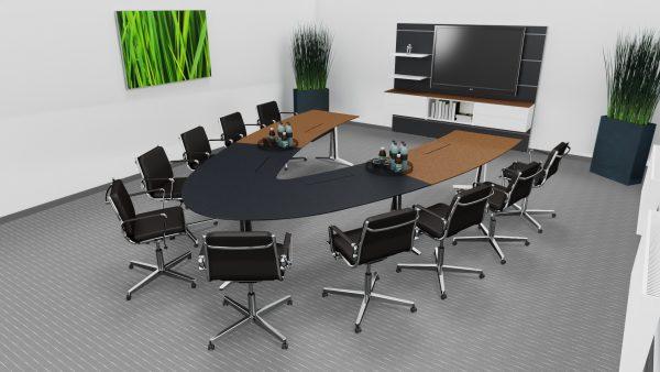 skill Videokonferenztisch variabel und flexibel nutzbar