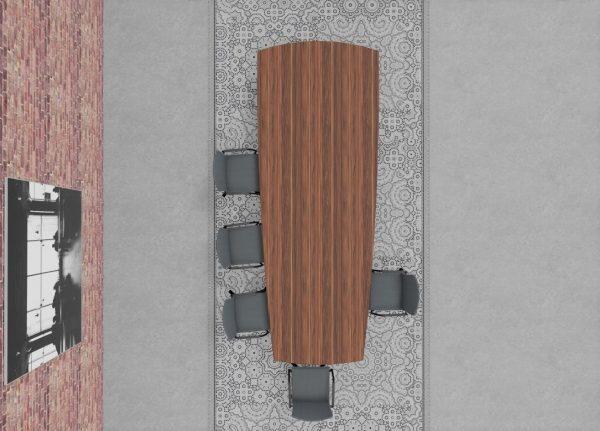 lynx flow Konferenztisch mit Tischplatte aus Massivholz