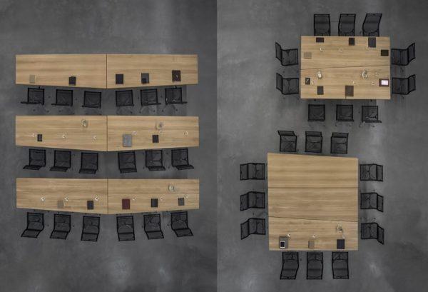 lynx Tischkombinationen für Seminar und Schulung