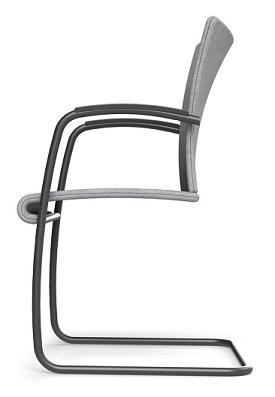 Sitzkomfort durch Sitzgurte, Visita Freischwinger