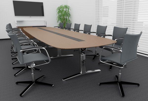 Visit-D Drehsessel am Konferenztisch pulse in ovaler Form