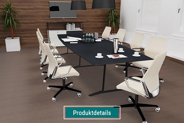 Konferenzmöbel, Konferenztisch mit Konferenzdrehsessel