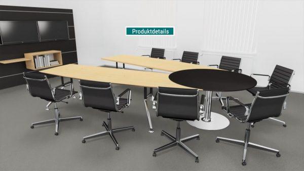 Videokonferenztisch für effiziente Meetings