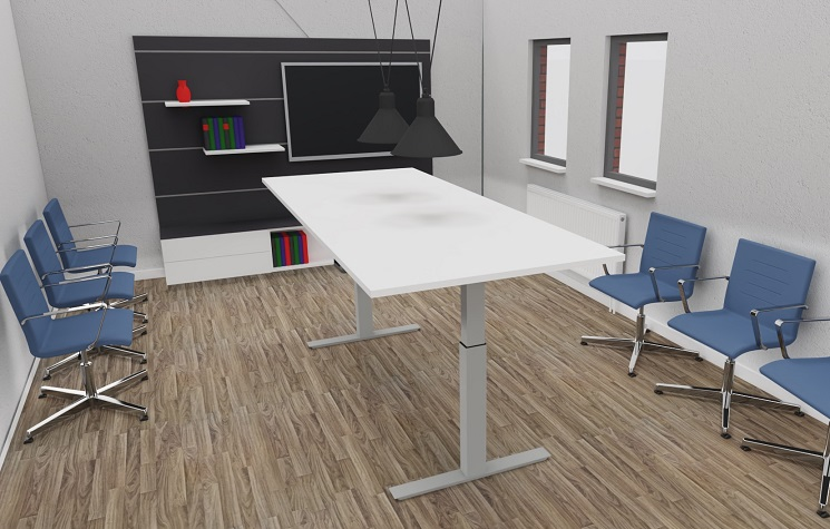 MGT Steh-Sitz-Tisch mit Gasdruckfeder
